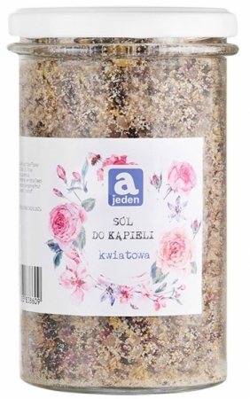 Kwiatowa sól do kąpieli z płatkami róż 450g