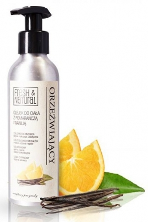 Orzeźwiający olejek do ciała z pomarańczą i wanilią 150ml