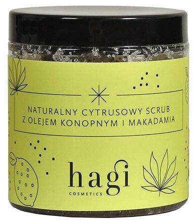 Naturalny cytrusowy scrub do ciała z olejem konopnym i macadamia 300ml