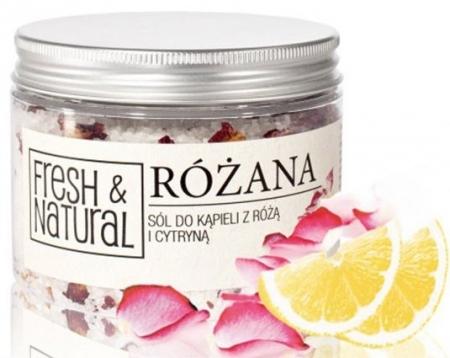 Różana sól do kąpieli z różą i cytryną 500g