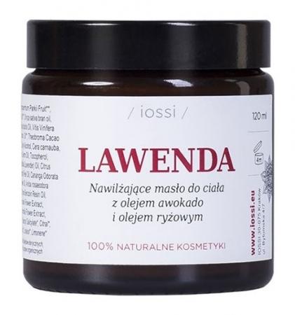 Nawilżające masło do ciała Lawenda z olejem awokado i olejem ryżowym 120ml