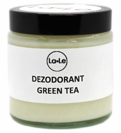 Dezodorant ekologiczny w kremie z olejkiem z zielonej herbaty (szkło) 120ml